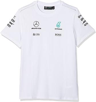 Mercedes AMG Petronas F1 infantil equipo camiseta – 2017 – Color blanco