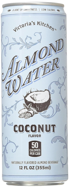 Amazon.com : Victoria\'s Kitchen Almond Water Original, 12 oz, 12 ...