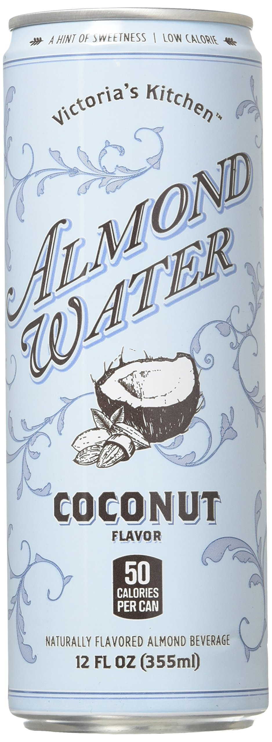 victorias kitchen almond water coconut 12 oz can pack of 12 all natural - Victorias Kitchen Almond Water
