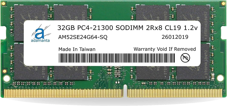 Precision /& XPS DDR4 2666Mhz PC4-21300 SODIMM 2Rx8 CL19 1.2v Notebook RAM DRAM P//N: SNPNNRD4C//32G Adamanta 32GB 1x32GB Laptop Memory Upgrade Compatible for Dell Optiplex
