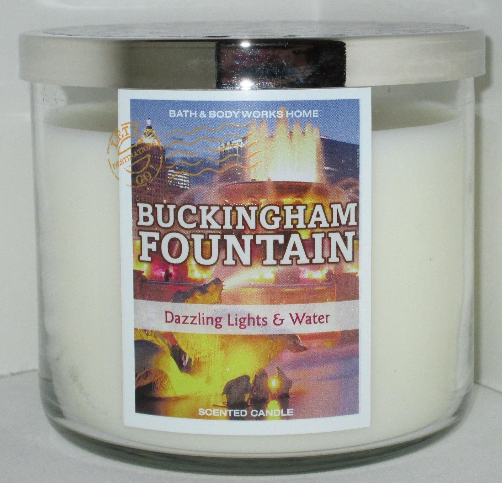 Bath and Body Works Buckingham Fountain Chicago 3 wick Scented Candle 14.5 OZ
