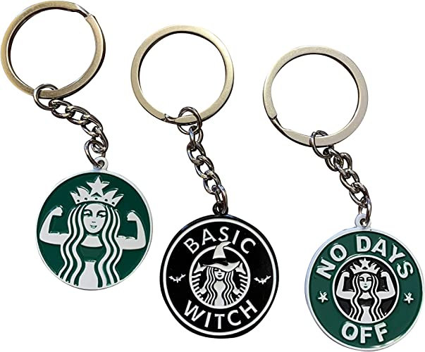 3 Keychains} Cute Keychain for Starbucks Lovers, Fun Keychains for Women &  Men, Gifts for Girls - 5 Beautiful Designs | Funny Key Chain (ALL 3) at  Amazon Women's Clothing store