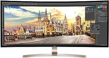 LG 38UC99-W - Monitor UltraWide Curvo, 95.25 cm (37.5 pulgadas), UV4K, IPS, LED, 3840 x 1600 Píxeles, 5 ms, 21:9, 300 cd/m2, blanco: Lg: Amazon.es: Electrónica