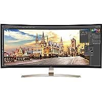 LG 38UC99-W 95,25 cm (37,5 Zoll) Monitor (HDMI, USB-C, USB 3.0, 1ms Reaktionszeit, 3840 x 1600, höhenverstellbar) schwarz