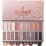 Ucanbe Pro Eyeshadow Palette Makeup, Highly Pigmented Matte Shimmer Neutral Smoky Nudes Warm Eye shadows Cosmetic (Naked…