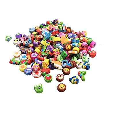 Mini Erasers Assortment, Colorful fruits, animals, numbers, sea Animal and more! Great Party Favors, pinata fillers, Home and school work Rewards! (50): Office Products
