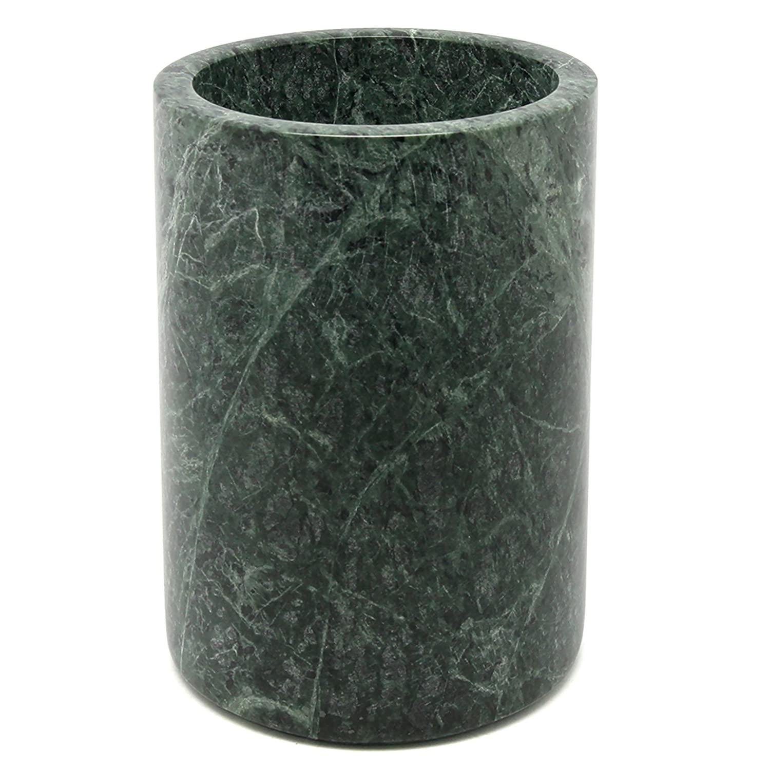 Creative Home Genuine Green Marble Stone Large Tool Holder, Tool Crock, Utensil Holder