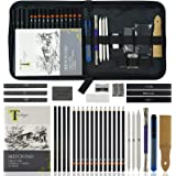 Tavolozza Drawing Art Pencils Set, 34 Pack Professional Drawing and Sketch Pencil Set in Soft-Sided Art Portfolio Storage Bag