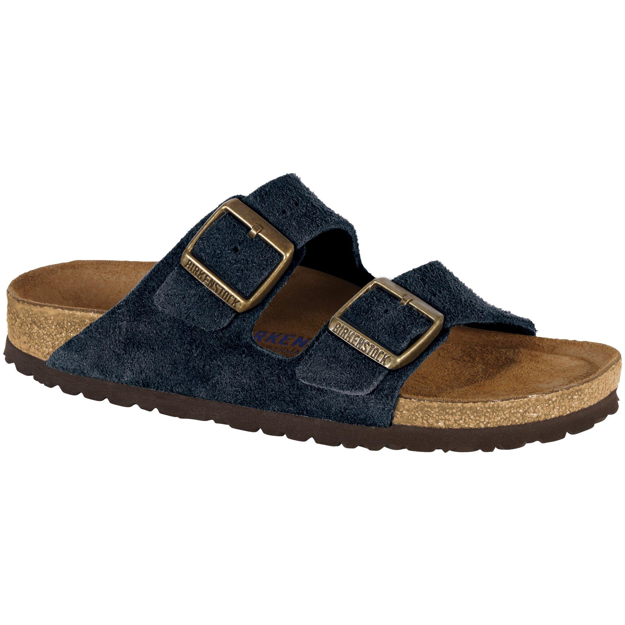 Birkenstock Arizona Soft Footbed Dark Navy Suede Sandals 37(US Women's 6-6.5)