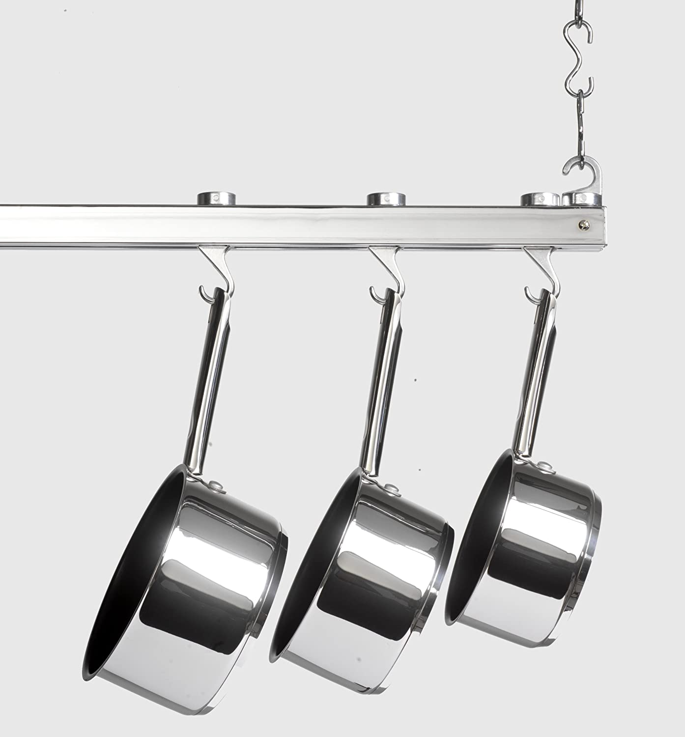 steel ceiling rack kitchen in hammered racks rectangle mount pot