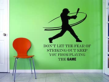 SOFTBALL WALL DECALS For Girls Bedroom / Girl Inspirational Quotes Room  Decoration / Womens Sports Decor