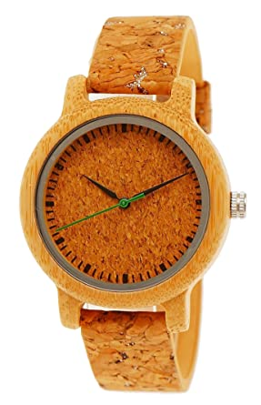 Handgefertigte Holzwerk Germany® Designer Damen Uhr Öko Natur Vegan Holz Uhr  Armband