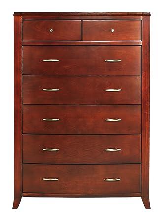Modus Furniture BR1584 Brighton 7-Drawer Chest, Cinnamon