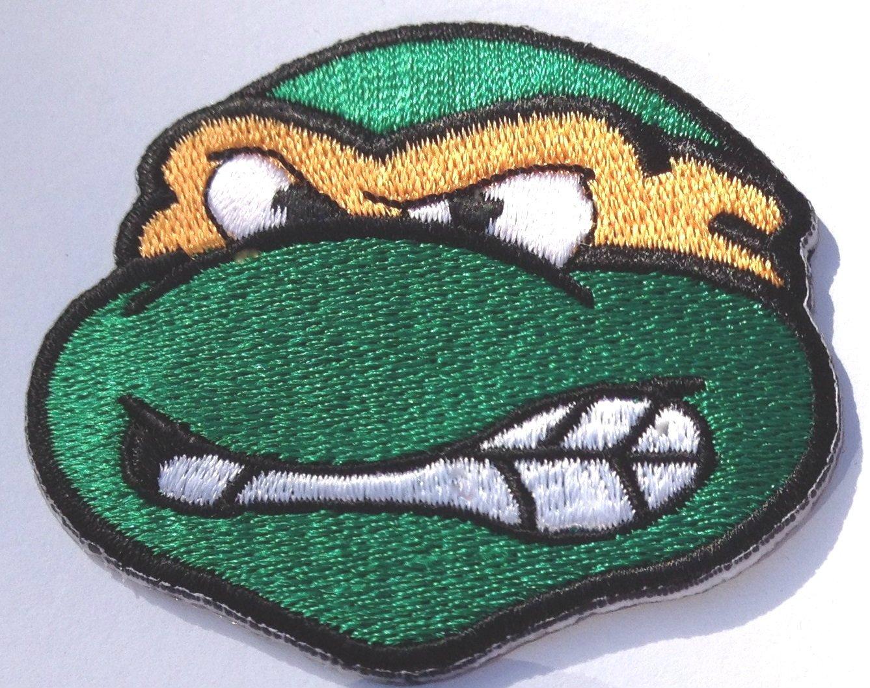 Bordado de cabeza de tortuga Ninja Michaelangelo/Mikey Cable ...