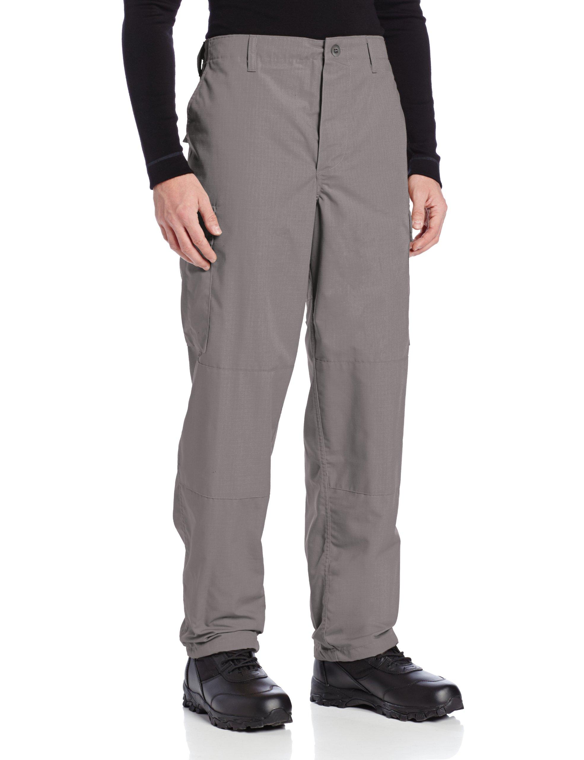 Tru-Spec Men's Polyester Cotton Rip Stop BDU Pant, Grey, X-Small Long