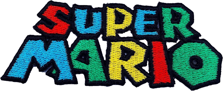 Con diseño de súper Mario logotipo de marca bordado de la UNIONE ...