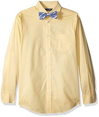 5126c5491 Amazon.com: Izod Boys' Long Sleeve Dress Shirt with Bow Tie: Clothing