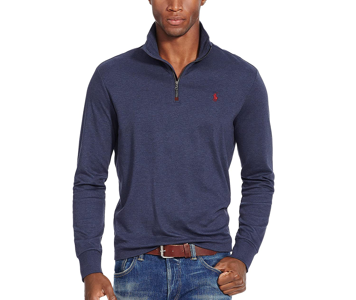 Polo Ralph Lauren Men\u0027s Half-Zip Mockneck Pullover Sweater 60%OFF