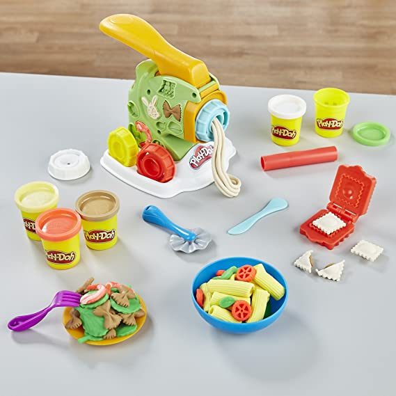 Hasbro Play-Doh Kitchen Creations Noodle Makin Mania Pasta para modelar 1pieza(s) - Compuestos para cerámica y modelaje (Pasta para modelar,, Adultos, ...