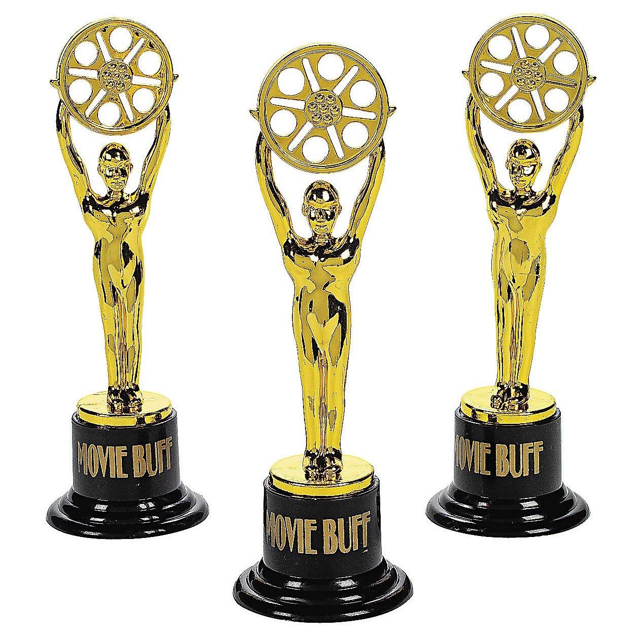 Movie Buff Gold Trophies (1 dz) by Fun Express