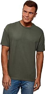 oodji Ultra Uomo T-Shirt in Cotone Dritta Senza Etichetta