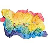 Sarah's Silks Fort Building Kit Giant Playsilk and 4 Playclips (Rainbow)