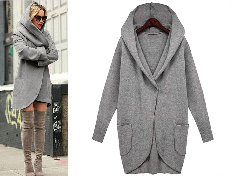 Desirca Autumn Coat Winter Wool Blends Loose Plus Size Ladies Casual Solid