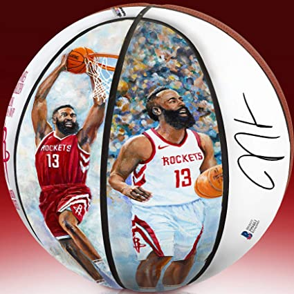b270d64f Image Unavailable. Image not available for. Color: James Harden Autographed  NBA MVP Basketball