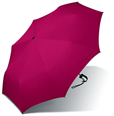 Esprit Easymatic - Paraguas de bolsillo (3 paneles, 28 cm) rojo Flagred Talla