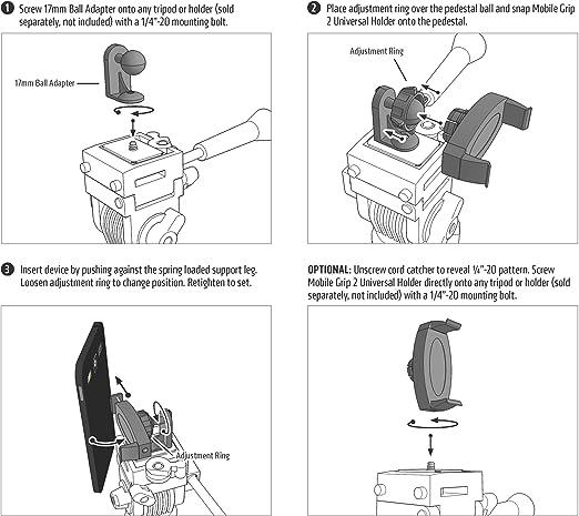 Arkon Dreibeoinstativ Adapter Mit Handy Halterung Für Elektronik