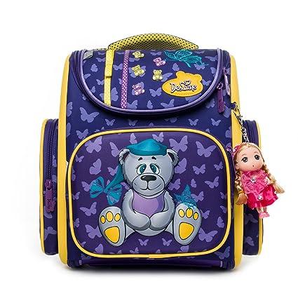 Delune Kids Backpack Waterproof and Large Capacity Folding Orthopedic Girls  School Bag (A3-137)  Amazon.co.uk  Luggage e38c7869b28f2