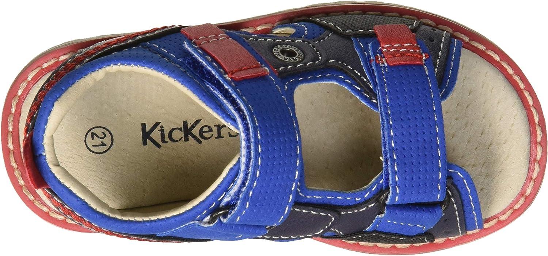 20 EU Kickers BIGBAZAR Sandales Bout Ouvert Gar/çons Kaki Camouflage 203 Vert