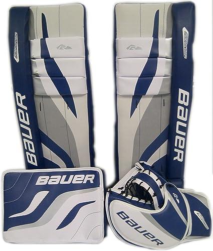 Amazon Com Bauer Reactor Street Hockey Goalie Kit A 27a White