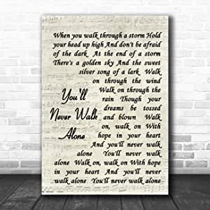 Hotel California White Script Song Lyric Quote Print