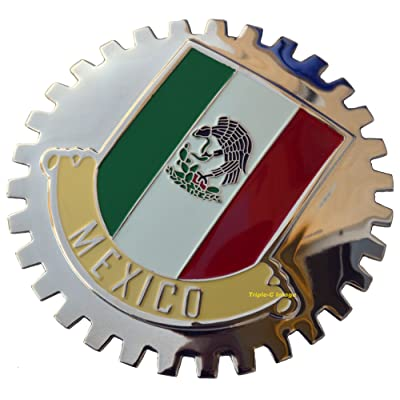 Mexico, Mexican Flag Car Grille Badge: Automotive [5Bkhe0105294]