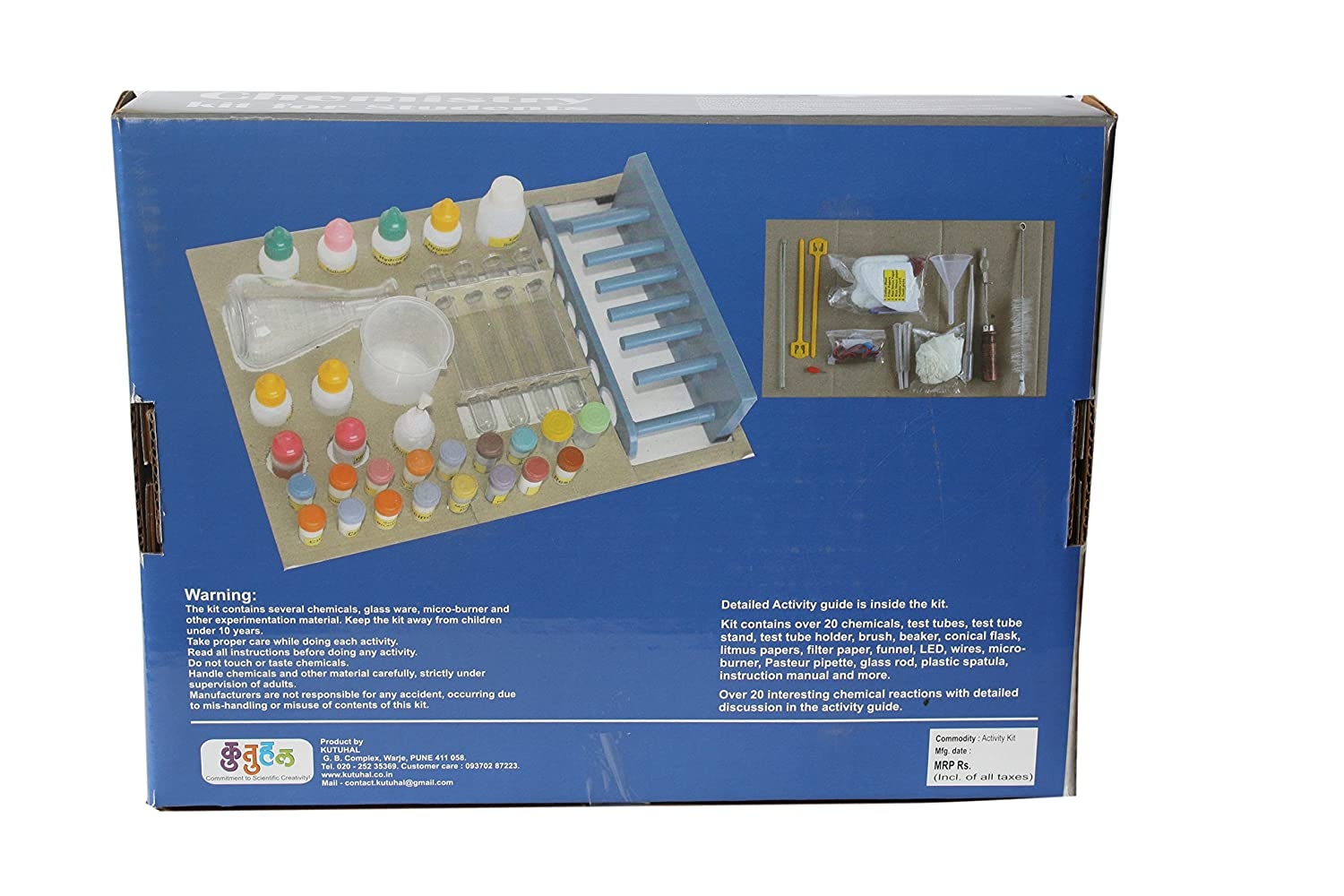 Buy kutuhal do it yourself chemistry kit educational learning toy buy kutuhal do it yourself chemistry kit educational learning toy online at low prices in india amazon solutioingenieria Gallery