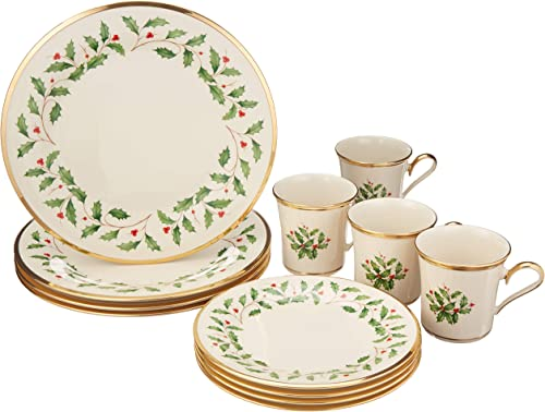 Lenox 6122048 Holiday 12-Piece Dinnerware Set