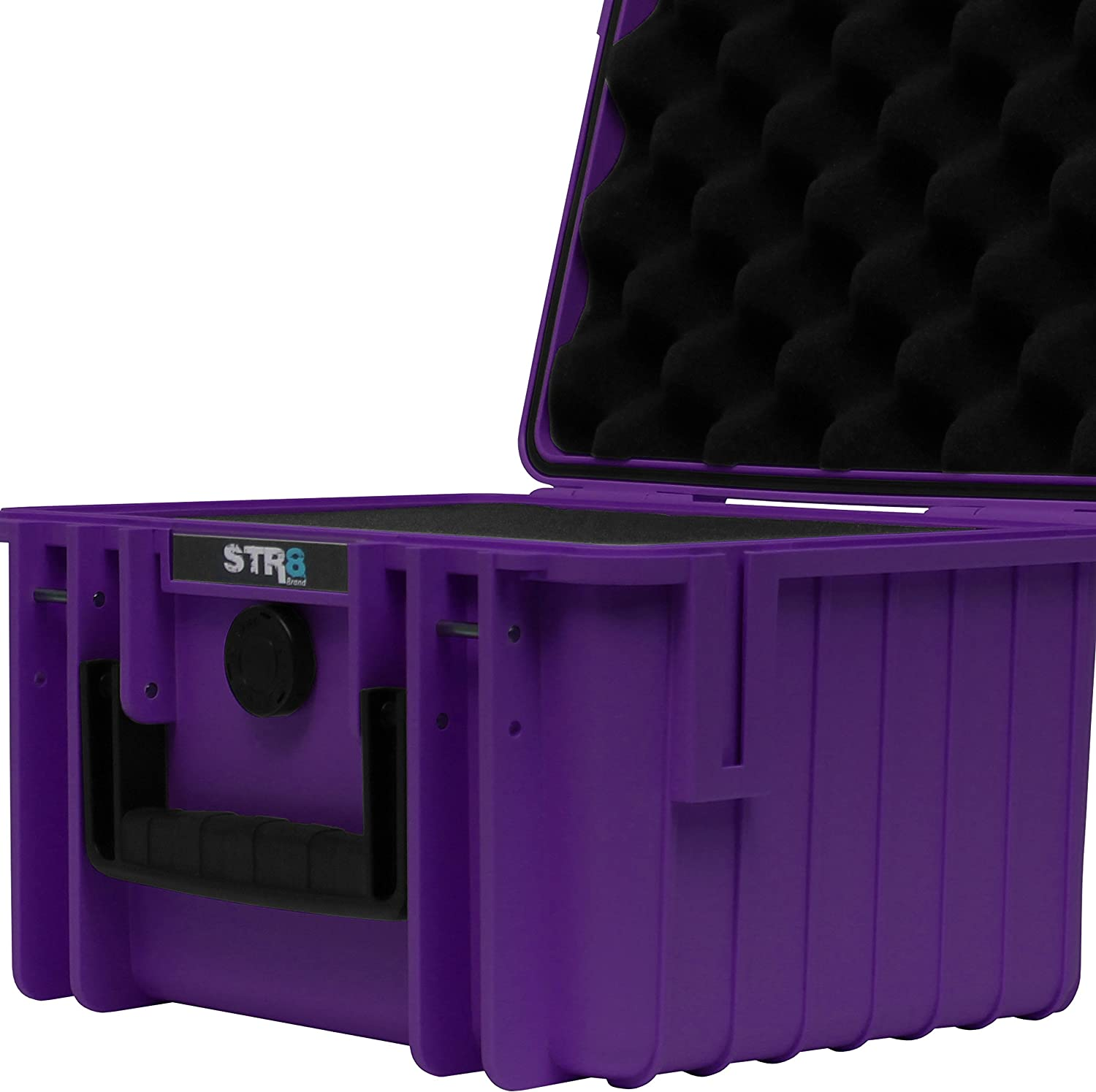 Smell Proof Waterproof Glass Protector Lockable STR8 Brand 10 with 3-Layer Pre Cut Grid Configuration Foam Outdoor Carrying Case for Multi-Purpose STR8BRAND