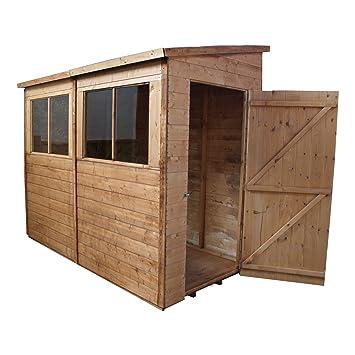 Cobertizo (T & G, 8 x 4 de madera jardín cobertizo con Windows &