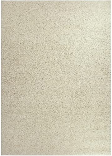 Shaggy Collection Solid Color Shag Area Rug Rugs Ivory Off White