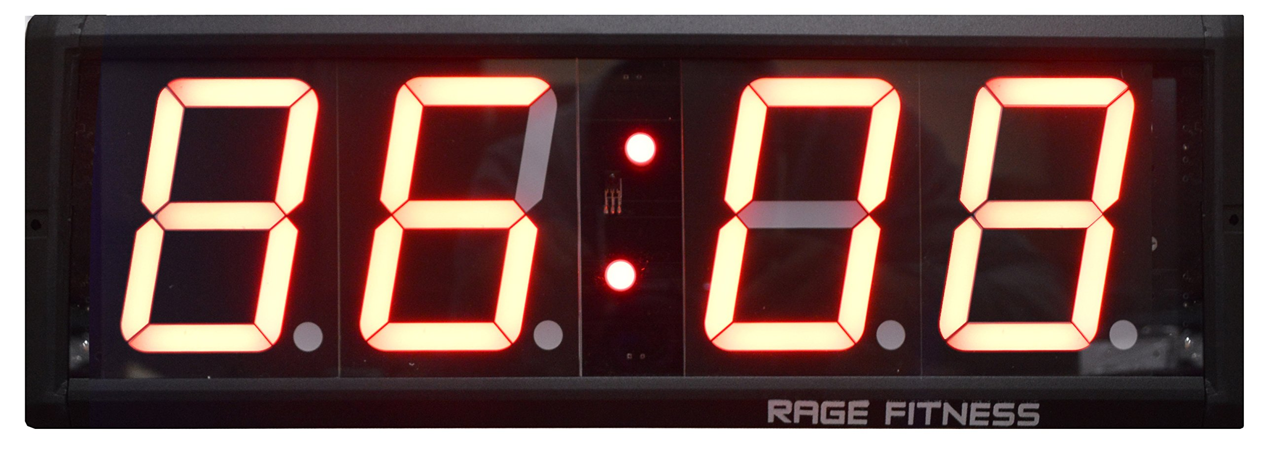 RAGE Fitness 4 Digit Digital Timer Huge 6.5'' x 20'' Display Clock