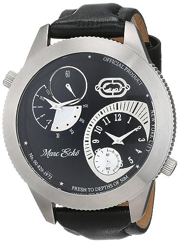Marc Ecko Reloj Cronógrafo para Hombre de Cuarzo con Correa en Cuero E12522G1: Amazon.es: Relojes