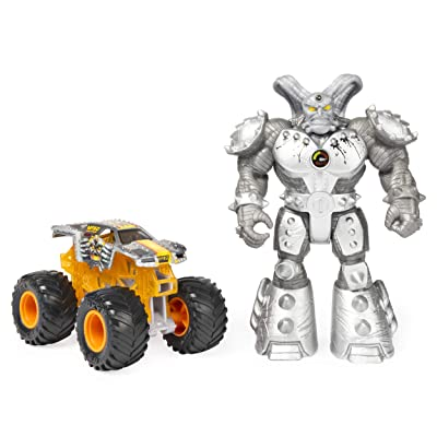 Monster Jam, Official Max-D 1:64 Scale Monster Truck and 5-Inch Maximus Creatures Action Figure Set: Toys & Games