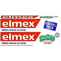 elmex JUNIOR Zahnpasta, 6-12 Jahre, Doppelpack, 150 ml