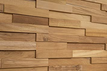 Amazon Com Woodywalls 3d Wall Panels Wood Planks Are Made From 100 Teak Each Wood Panel Is Handmade And Unique Premium Set Of 10 3d Wall Decor Panels Diy