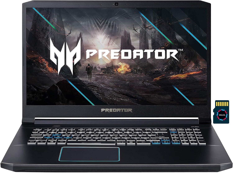 "2021 Acer Predator Helios 300 Premium Gaming Laptop I 17.3"" FHD 144Hz I Intel 6-Core i7-10750H I 64GB DDR4 1TB SSD + 1TB SSHD I GeForce RTX 2060 6GB I Backlit USB-C Win10 + Delca 32GB MicroSD Card"