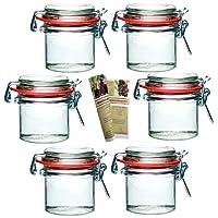 gouveo Bügelgläser Incl. 28-seitige Flaschendiscount-Rezeptbroschüre Einmachgläser Marmeladengläser mit Bügelverschluss