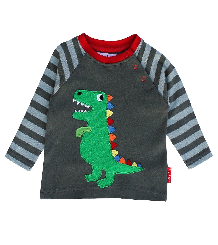 Toby Tiger T-Rex Motiv T-Shirt LSAMTREX_GREY-6-12Monate