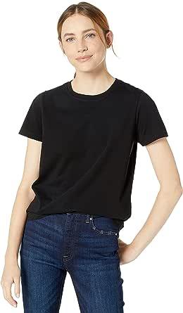 The Drop Women's Courtney Short-Sleeve Tiny Crewneck Jersey T-Shirt