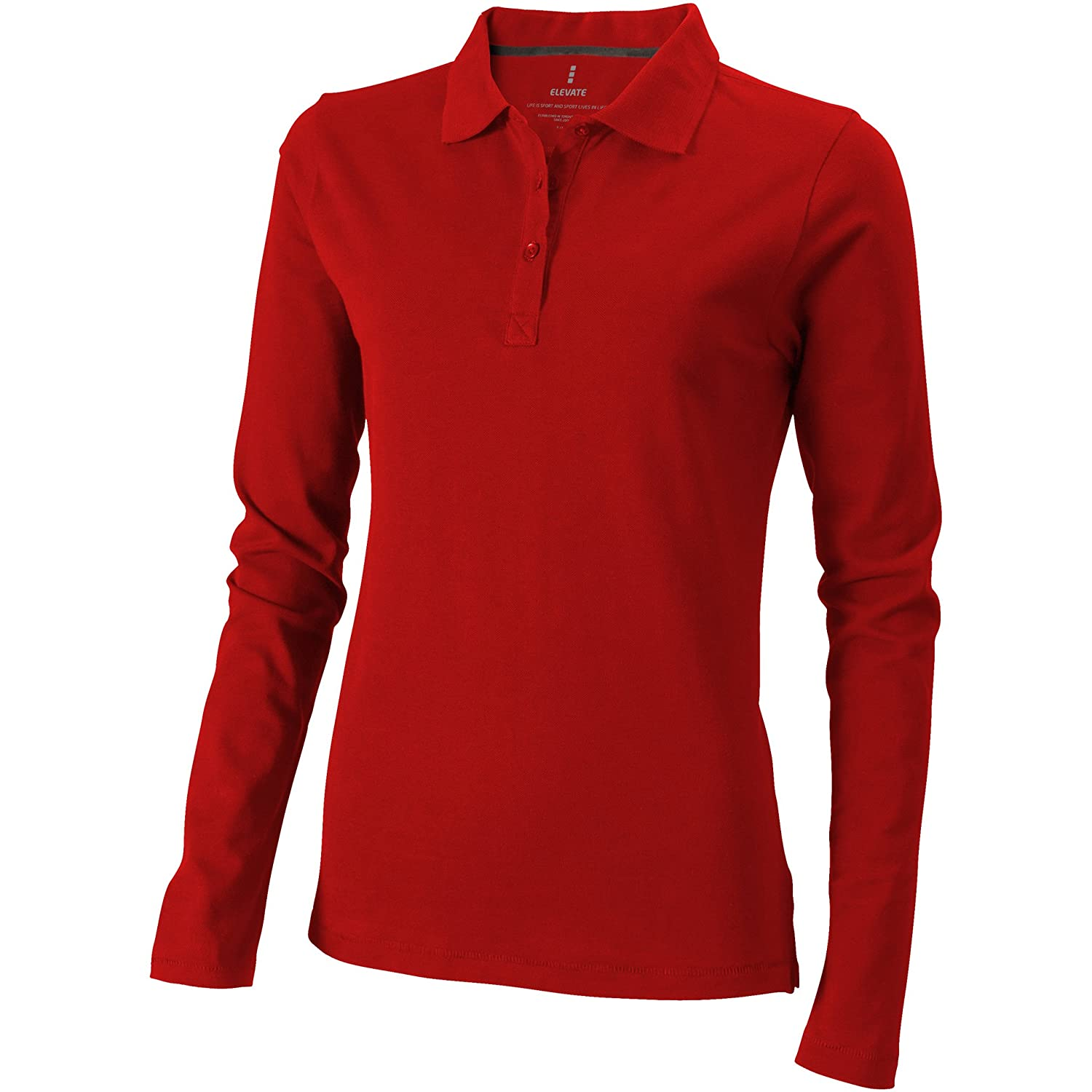 Elevate Oakville Long Sleeve Ladies Polo Shirt